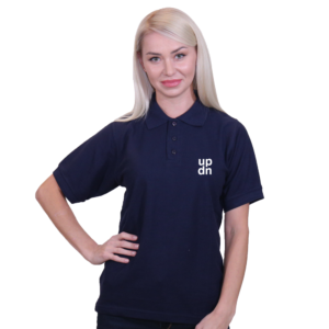 Dark Blue Polo Shirt Print